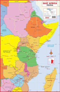 East Africa Political Wall Map - Map Studio